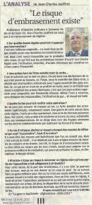 Syrie, 28 août 2013,La Provence, entretien de J.-Ch. Jauffret,(1)