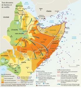 Carte géopolitique de la Corne de l'Afrique