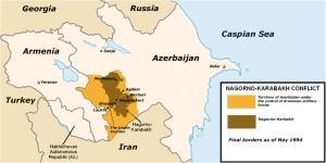 Annexe 1 - Carte politique du conflit du Nagorno-Karabakh
